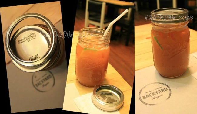 Backyard Baguio iced tea frappe