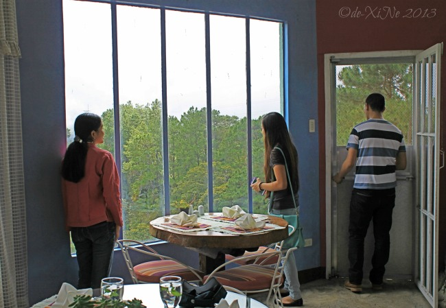 taking in the view from Eve's Garden dining area