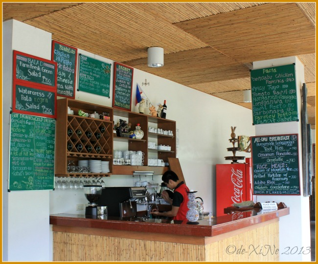 Cafe Sabel at BenCab Museum counter and menu