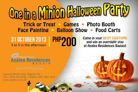 Azalea Residences one in a minion Halloween party 2013 poster