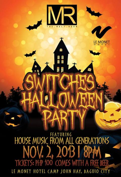 The Malt Room Le Monet switches Halloween party poster 2013
