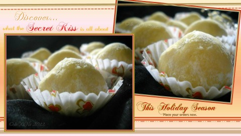 Karla's Kitchen Baguio Russian tea cakes - Secret Kiss