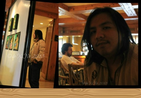While waiting for our orders at Twist at Forest Lodge Baguio