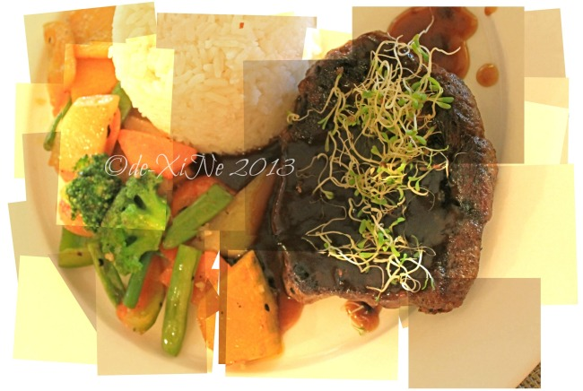 Twist at Forest Lodge Baguio grilled US beef in star anise sauce