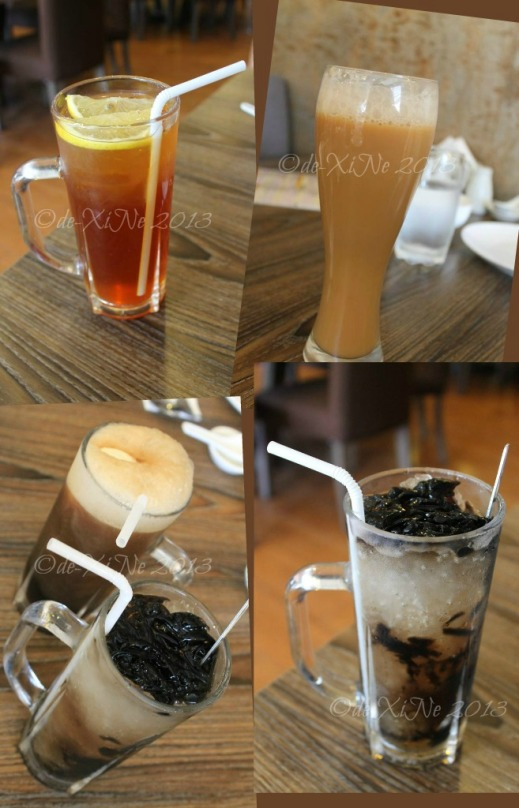 Rasa Pura Baguio beverages - homemade iced tea, ginger milk tea, grass jelly, rootbeer float