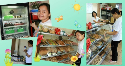 Sister in a shopping frenzy at Kiwi's Bread and Pastry Shop Baguio