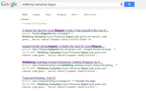 Good search results 2013/11/03