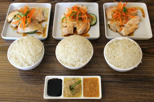 Rasa Pura Baguio hainanese chicken rice set