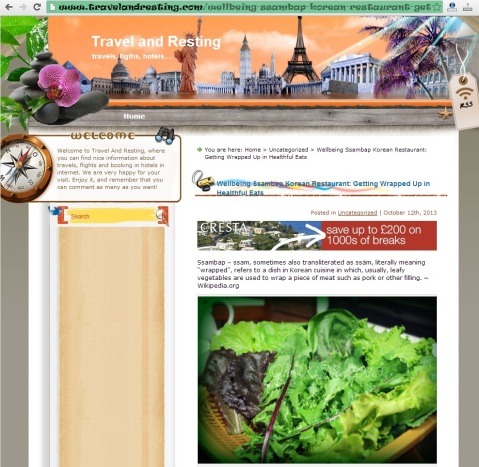Travel and resting ... the site that is scraping X Marks the Spot for Good Baguio Foods' content