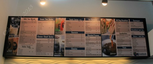 True Blends Baguio menu