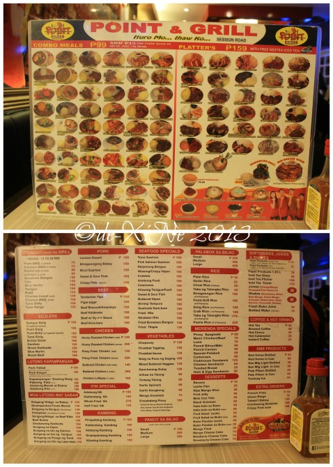 Point and Grill Baguio menu