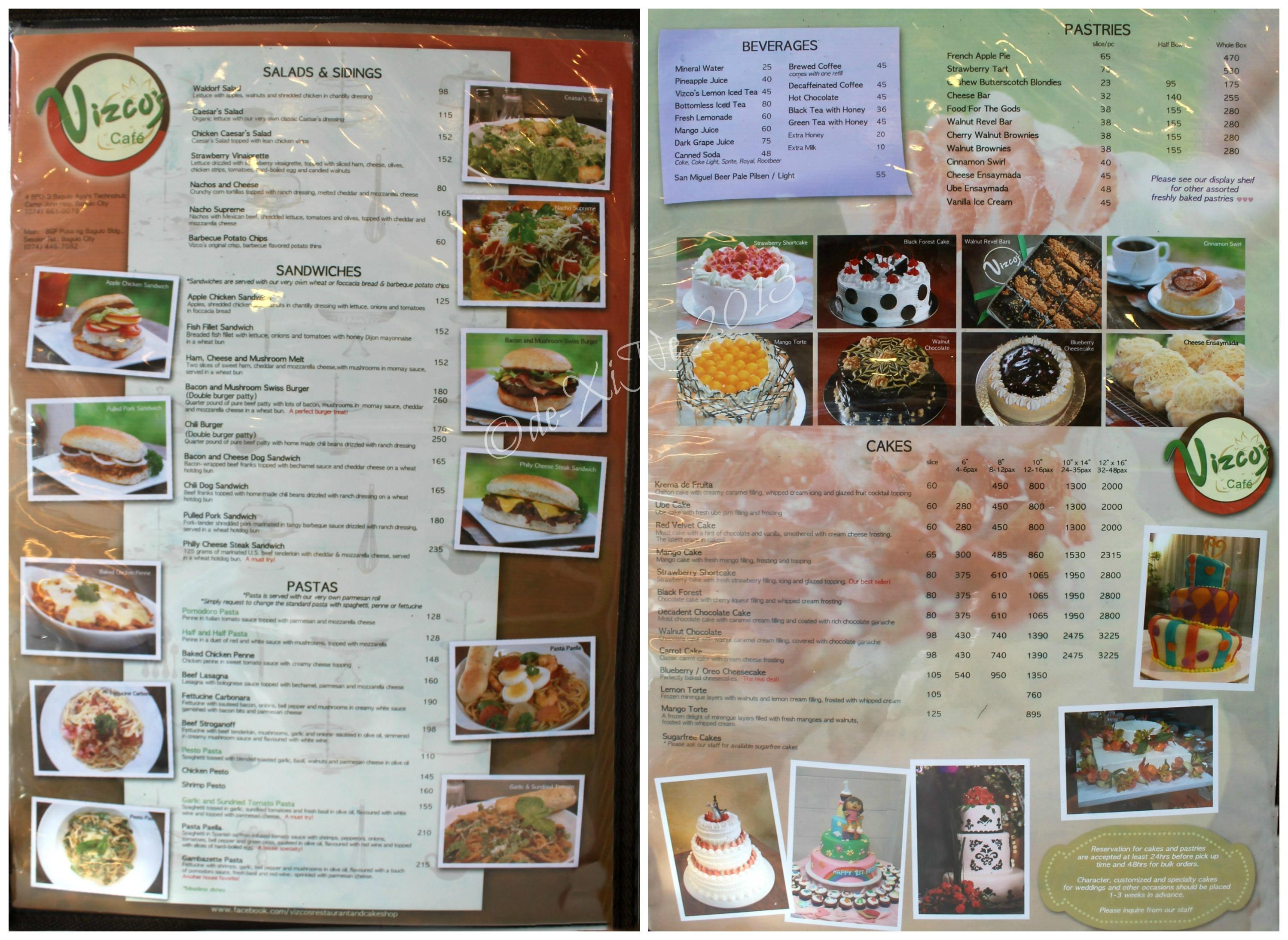 baguio dining a la carte – menus, menus, menus | x marks the spot