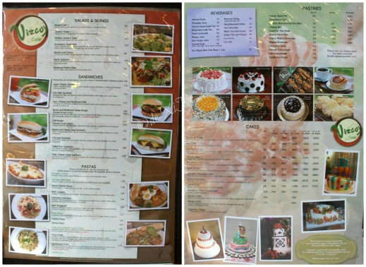 Vizco's Restaurant at Fog Photo Technohub Baguio menu
