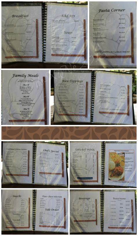 High Point Boutique Inn and Restaurant Baguio menu
