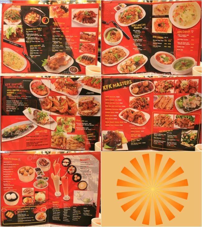 Kung Fu Kitchen Baguio menu