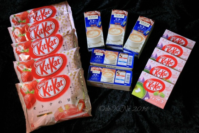 Cuttie Cuppies Shoppe Baguio Japanese Kit Kat and Maxim tea cappuccino mix