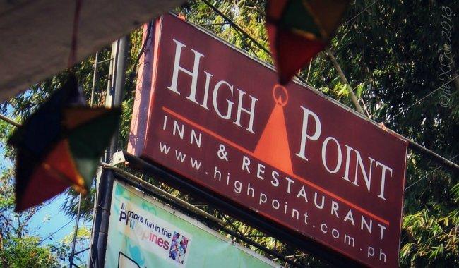 High Point Restaurant Baguio sign