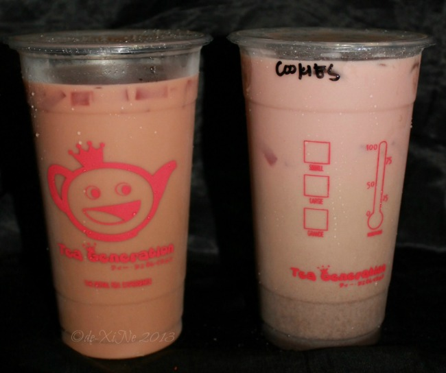 Tea Generation Baguio strawberry and cookies and cream milk tea