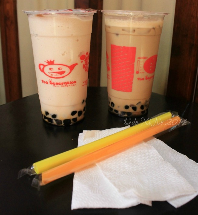 Tea Generation Baguio Irish cream shake and tiramisu milk tea