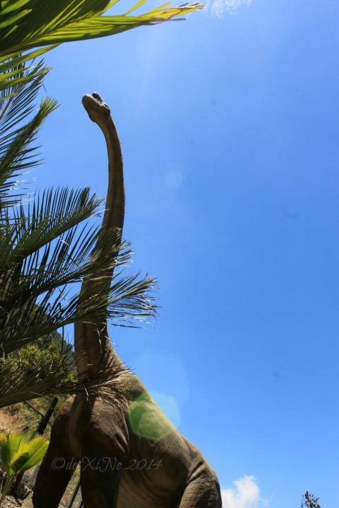 Dinosaurs Island Baguio brachiosaurus against the wild blue yonder