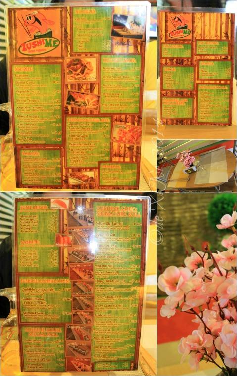 Baguio ZushiMe menu 2014