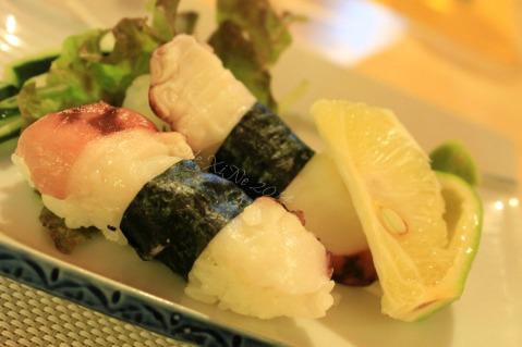 ZushiMe Baguio 2014 Octopus sushi nigiri