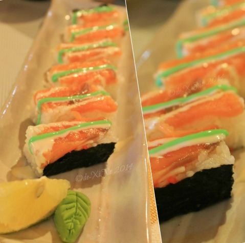 Baguio ZushiMe 2014 Box salmon roll