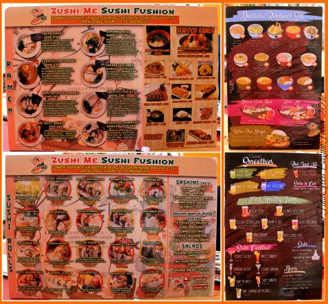 Baguio ZushiMe 2018 menu