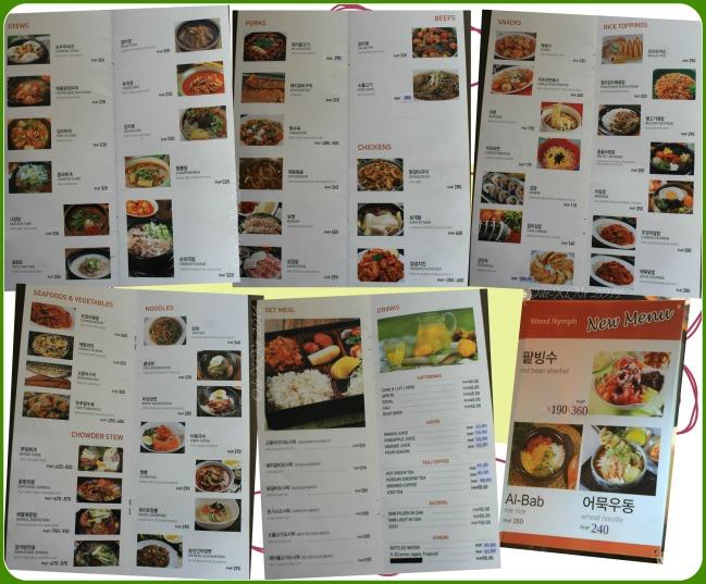 Wood Nymph Baguio menu 2014