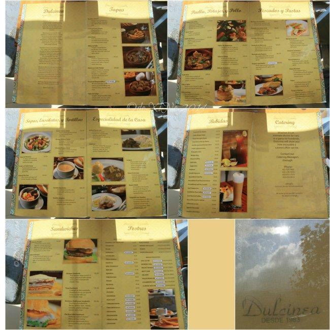 Dulcinea at Chalet Baguio menu 2014
