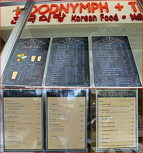 Woodnymph + Tea Baguio 2014 menu