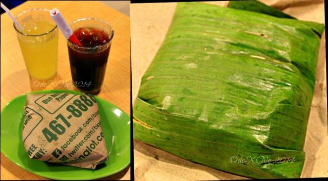Binalot Baguio 2014 sago't gulaman, soda and binalot meal