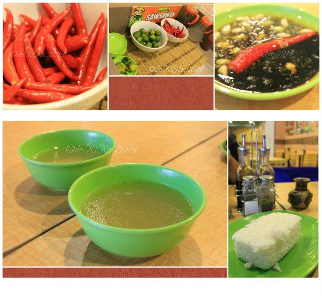 Binalot Baguio 2014 sawsawan, soup and extra rice
