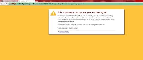 SSL certificate error 2014