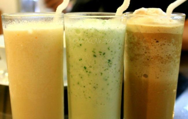 Inglay Restaurant La Trinidad shakes (melon, cucumber and mocha milk)