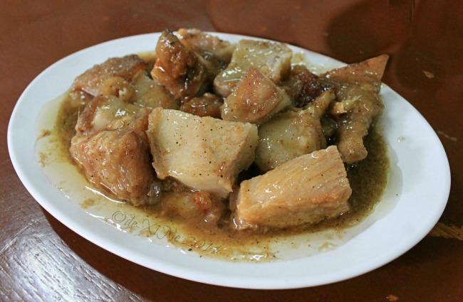 C.A Chia's Restaurant Baguio lechon paksiw