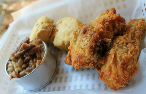 Ozark Diner Baguio  Nashville fried chicken, hoppin John and biscuits 2014
