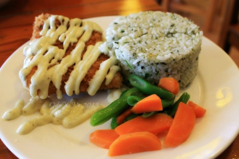 Posticino Baguio parmesan crusted fish fillet