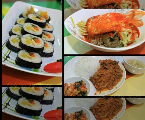 Gutom Baguio kimbap, bibimbap and jeyuk-deopbap