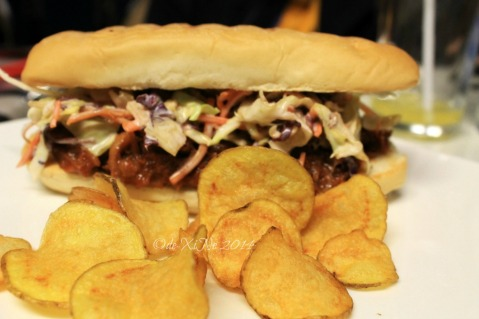 Reverie Resto-Lounge Baguio 2014 pulled pork sandwich/the oinker
