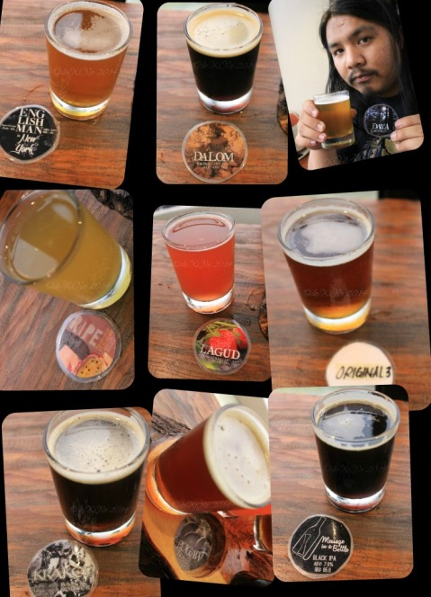 Baguio Craft Brewery 2014 the flavors of beer  (Englishman in New York, Dalom, Daya, Ripe, Lagud, Original 3, Kraken, Pugaw, Message in A Bottle)