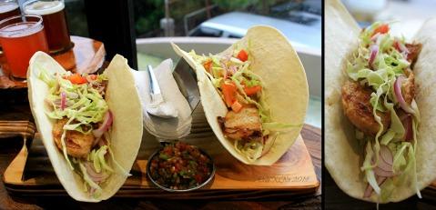 Baguio Craft Brewery 2014 fish tacos