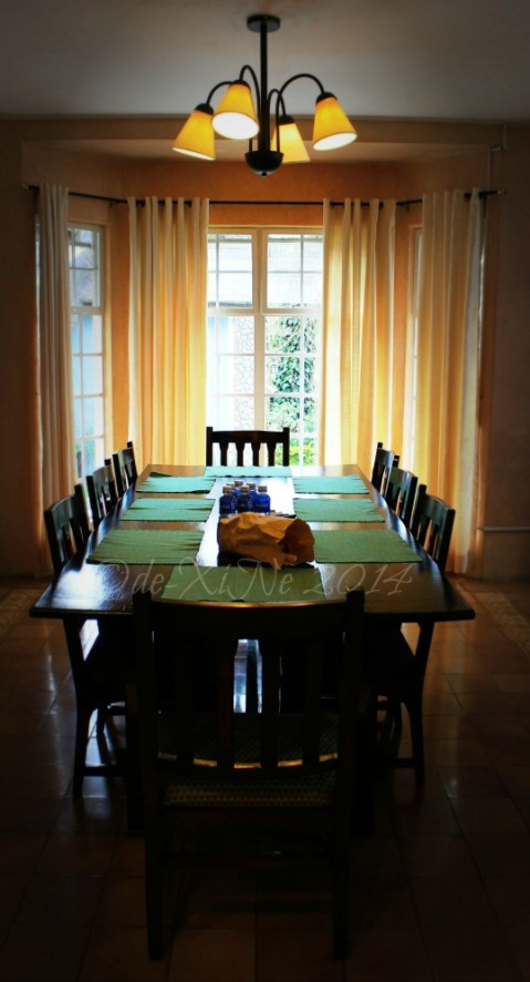 Baguio Country Club cottage dining room