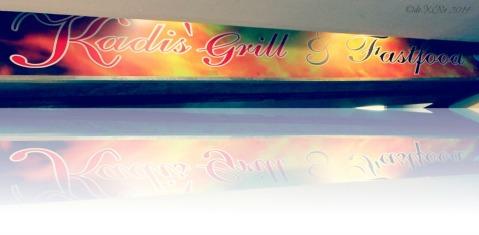 Kadis Grill and Fastfood Baguio stall sign 2014