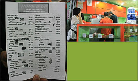 Hook'd Up Mediterranean Cuisine Baguio menu and stall