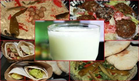 Hook'd Up Mediterranean Cuisine Baguio hummus, falafel, chicken and beef shawarma, yogurt drink, and avocado hummus