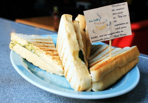Kai Cafe La Trinidad cheesy pesto panini 2014