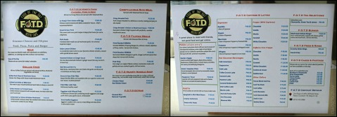FOTD Food of the Day menu Baguio 2014
