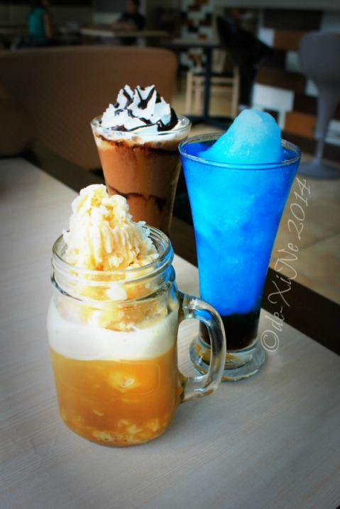 FOTD Food of the Day Baguio mocha frappe, bubblegum frappe, ice tea slush