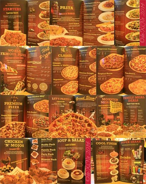 Shakeys Pizza Parlor Baguio menu